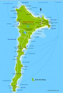 Карта острова Самет ko-samet